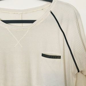 Lululemon striped moisture wicking long sleeve